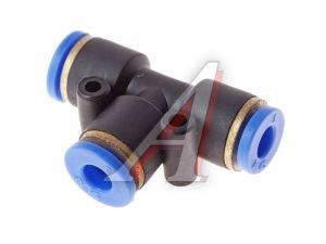Соединитель трубки ПВХ,полиамид d=4мм тройник PUT04, АТ-350