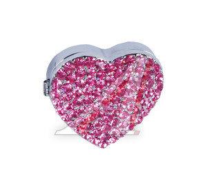 Ароматизатор на панель приборов гелевый (fragrance) фигура Сердце с кристаллами в под. футляре D.A.D XX01