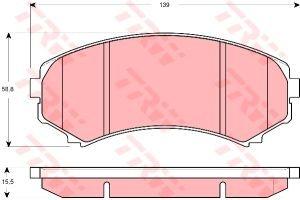 Колодки тормозные MITSUBISHI Pajero 3, Grandis передние (4шт.) TRW GDB3246
