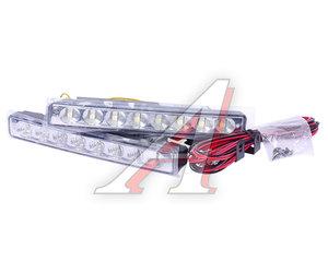 Огни ходовые дневного света LED 8 светодиодов 12V 6000K 80Кд 160х20х35мм поворотник XENITE L-1616S, 1001003