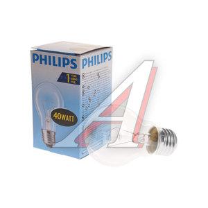 Лампа накаливания E27 А55 40W PHILIPS C0018500, PHILIPS 40A55/CL/E27