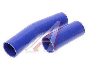 Патрубок УРАЛ дв.КАМАЗ радиатора комплект 2шт. синий силикон 4320-1303057/10, 4320-1303057