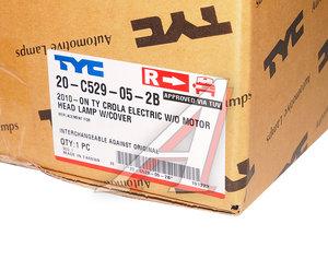 Фара TOYOTA Corolla (10-) правая (под корректор) TYC 20-C529-05-2B, 112-1130R-LDEMN, 81130-12D80