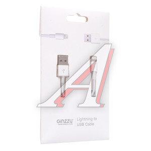 Кабель iPhone (5-) 1м белый GINZZU GINZZU GC-501W, GC-501W