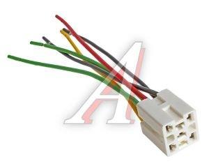 Колодка разъема ВАЗ-2108-15,ГАЗ-3302,2217 ЕВРО выключателя-кнопки с 6-ю проводами АЭНК 2108, 2114-3724564СБ6