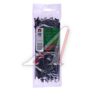 Хомут-стяжка 200х3.0 пластик черный (100шт.) FORTISFLEX 1003200-1, 49409