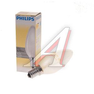 Лампа накаливания E14 B35 60W матовая PHILIPS C0018642, PHILIPS 60B35/FR/E14