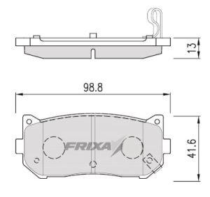 Колодки тормозные KIA Spectra, Clarus, Clarus 2 задние (4шт.) HANKOOK FRIXA FPK04R, 0K2FA-2628Z