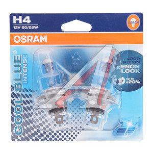 Лампа 12V H4 60/55W +20% P43t блистер (2шт.) Cool Blue Intense OSRAM 64193CBI-02B, O-64193CBI-2бл, АКГ12-60+55(Н4)