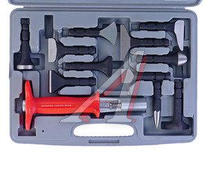 Набор инструментов 10 предметов рихтовочных (держатель,8 зубил-насадок, керн) (кейс) MATRIX 13510