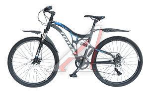 """Велосипед 26"""" 21-ск. двухподвесный дисковые тормоза серый FXR-ONE TOTEM T15B108 A, T15B108,"""