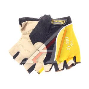 Перчатки велосипедные gel-silicon желтые XY-B03,