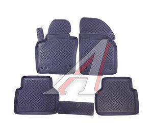 Коврик салона VW Tiguan (08-) полиуретан 4шт. NOR NPL-Po-95-50