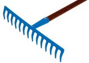 Грабли прямые 14 зубьев с черенком BRIGADIER 87005
