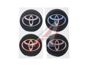 """Эмблема диска колесного """"TOYOTA"""" (6см) комплект 4шт. 02145"""