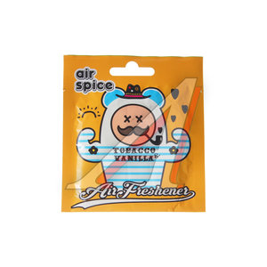 Ароматизатор подвесной пластина (табак-ваниль) AIR SPICE AIR SPICE табакваниль, 00000000386