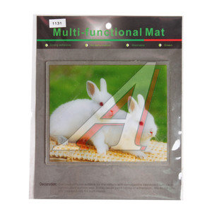 Коврик универсальный на панель приборов противоскользящий 180х150 с рисунком кролики ART1131,