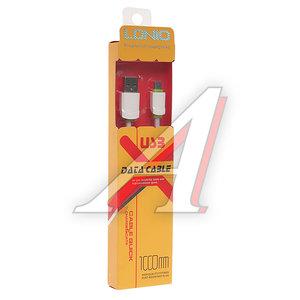 Кабель micro-USB 1м белый силиконовый плоский LDNIO LS-062W, LDNIO LS06