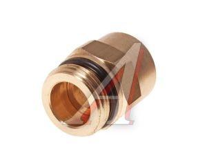 Соединитель трубки ПВХ,полиамид d=15мм (наружная резьба) М22х1.5 прямой латунь CAMOZZI 9512 15-M22X1,5,