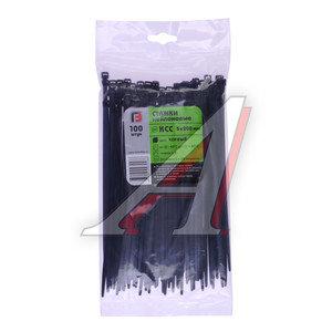 Хомут-стяжка 200х5.0 пластик черный (100шт.) FORTISFLEX 1005200-1, 49415