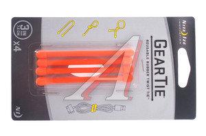 Крепление универсальное 4шт. 7.6см оранжевый NITEIZE GEAR TIE GT3-4PK-31,