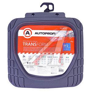 Коврик салона универсальный термопласт задний ряд серый (2 предмета) Transform AUTOPROFI TER-002 GY,