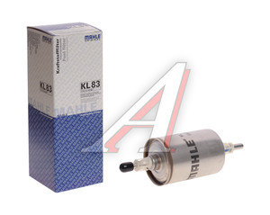 Фильтр топливный ВАЗ-2123i,1118i CHEVROLET тонкой очистки (штуцер с клипсами) MAHLE KL83, 25313359