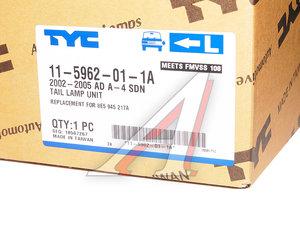 Фонарь задний AUDI A4 седан (02-) левый TYC 11-5962-01-1A, 341-1916L-AS, 8E5945217A