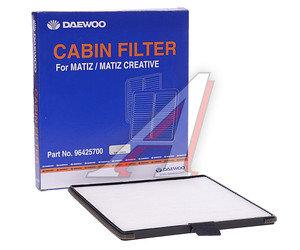 Фильтр воздушный салона CHEVROLET Spark (05-) DAEWOO Matiz (98-) (0.8/1.0) DAEWOO 96425700, LA624