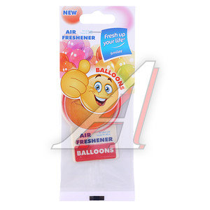 Ароматизатор подвесной пластина (воздушные шары) Smiles KREDO S005