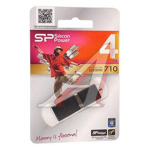 Карта памяти USB 4Gb Silicon Power LuxMini 710 Black USB 2.0 Silicon Power LuxMini 710 Black 4Gb, SP004GBUF2710V1K