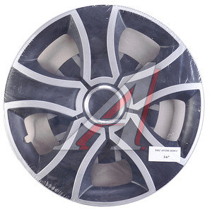 Колпак колеса R-16 декоративный ринг микс черный комплект 4шт. БИС ХРОМ МИКС БИС ХРОМ МИКС R-16