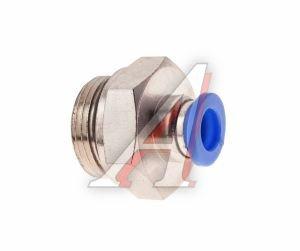 Соединитель трубки ПВХ,полиамид d=8мм (наружная резьба) М22х1.5 прямой PC M22x1.5 d=8, АТ-0716