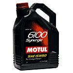 Масло моторное 6100 SYNERGIE п/синт.1л MOTUL MOTUL SAE15W50, 102780