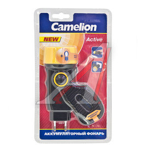 Фонарь аккумуляторный лампа+запасная лампа (пластик) 2хNiCd600mAh 15см CAMELION LED2801, C-2801