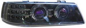 Фара блок ВАЗ-2110 SPORT Agressor моноблок с гидрокорректором черный хром комплект RS-02175, 2110-3711010