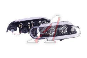 Фара блок ВАЗ-2113-2115 PRO SPORT стиль AUDI моноблок черный хром, дневные ходовые огни, линза RS-06726, 2114-3711010