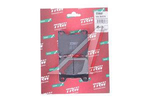 Колодки тормозные мото YAMAHA VMX1200 (93-01) задние (2шт.) TRW MCB530