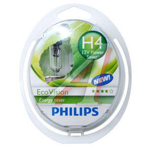 Лампа 12V H4 60/55W P43t бокс 2шт. Eco Vision PHILIPS 12342ECO2, P-12342ECO2-OLD, АКГ12-60+55(Н4)