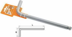 Ключ шестигранный Г-образный 9мм L=165мм шаровый Professional АВТОДЕЛО АВТОДЕЛО 39149, 10969