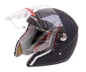 Шлем мото (открытый) MICHIRU Черный матовый S MO 150 S, 4620770793016,
