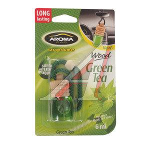 Ароматизатор подвесной жидкостный (зеленый чай) с деревянной крышкой 6мл Car Wood AROMA PH\ Aroma Car Wood