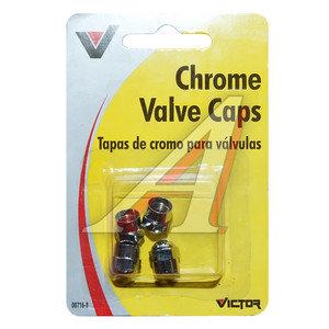 Колпачок на ниппель колеса декоративный, металл 4шт. VICTOR VICTOR V716, V716