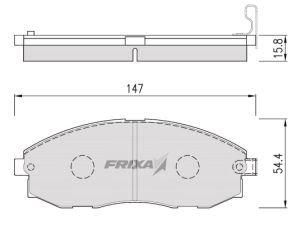 Колодки тормозные HYUNDAI Starex H-1 (-02) передние (4шт.) HANKOOK FRIXA S1H09, 58101-4AA00