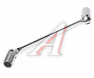 Ключ торцевой прямой 12х14мм шарнирный L=222мм JTC JTC-3937