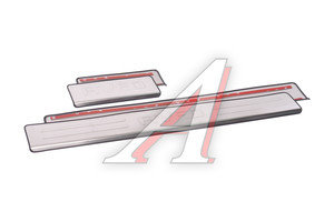 Накладка порога CHEVROLET Aveo (10-13) хром комплект PRO SPORT RS-09387