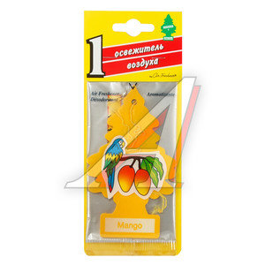 Ароматизатор подвесной пластина (манго) фигура Елочка CAR FRESHNER CF-10339,