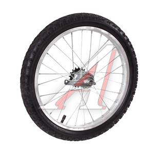 """Колесо велосипедное 18"""" заднее обод сталь хром в сборе 630159"""