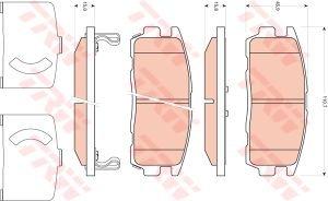 Колодки тормозные CHEVROLET Captiva (06-) OPEL Antara (06-) задние (4шт.) TRW GDB1716, 96626076/1605123