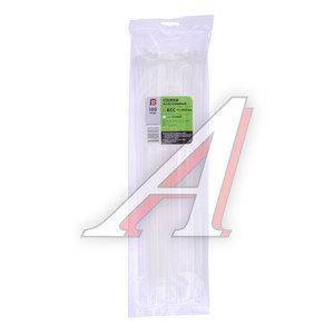 Хомут-стяжка 400х5.0 пластик белый (100шт.) FORTISFLEX 1005400, 49787